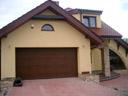Brama garażowa LPU 40, przetłoczenia M, kolor ciemny dąb