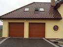 Bramy garażowe LPU 40, przetłoczenia M, kolor Złoty dąb