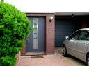 Brama garażowa LPU 40, przetłoczenia typu M, drzwi typu Reno door