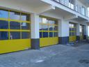 Bramy przemysłowe APU 40 z ramami malowanymi w kolorze wg. palety RAL